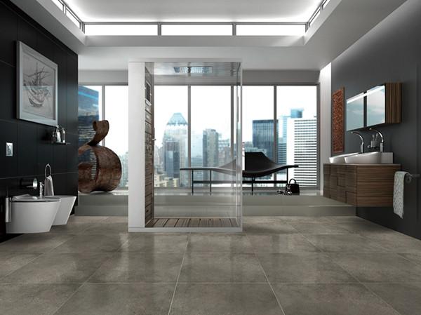 在装饰客厅背景墙时,颜色古朴的亚光复古砖是最受欢迎的瓷砖装饰
